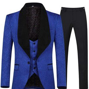 Other - Men's 3 Piece Suit Slim Fit Jacquard Tuxedo